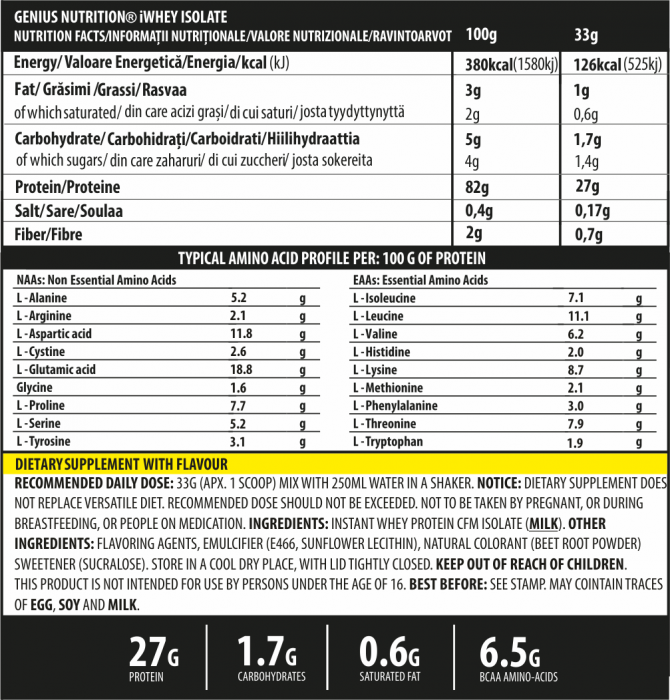 iWhey Isolate 900g 1