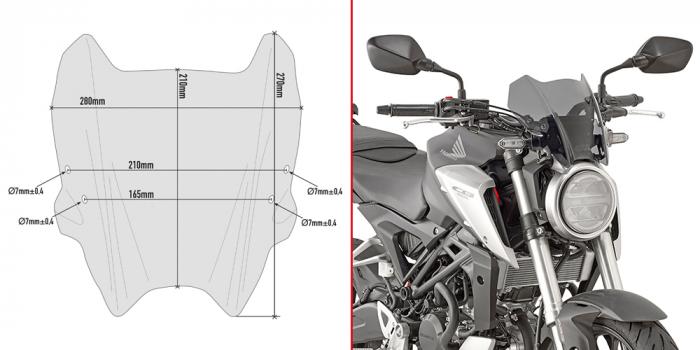 Parbriz Honda CB 300 R (18 - 21) [0]
