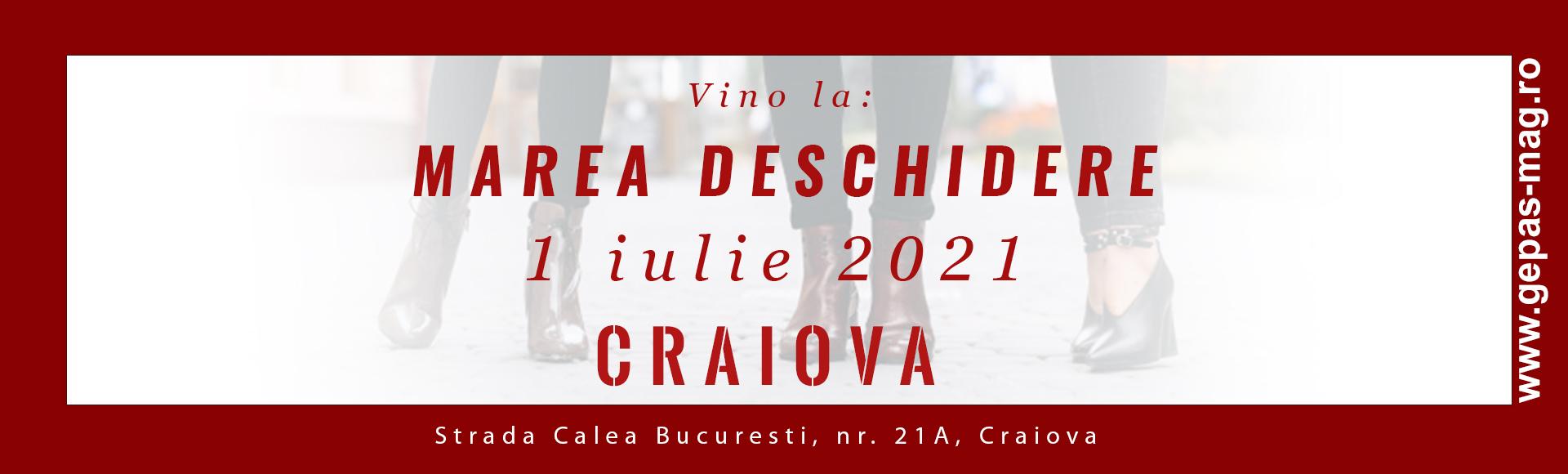 Deschidere magazin Craiova