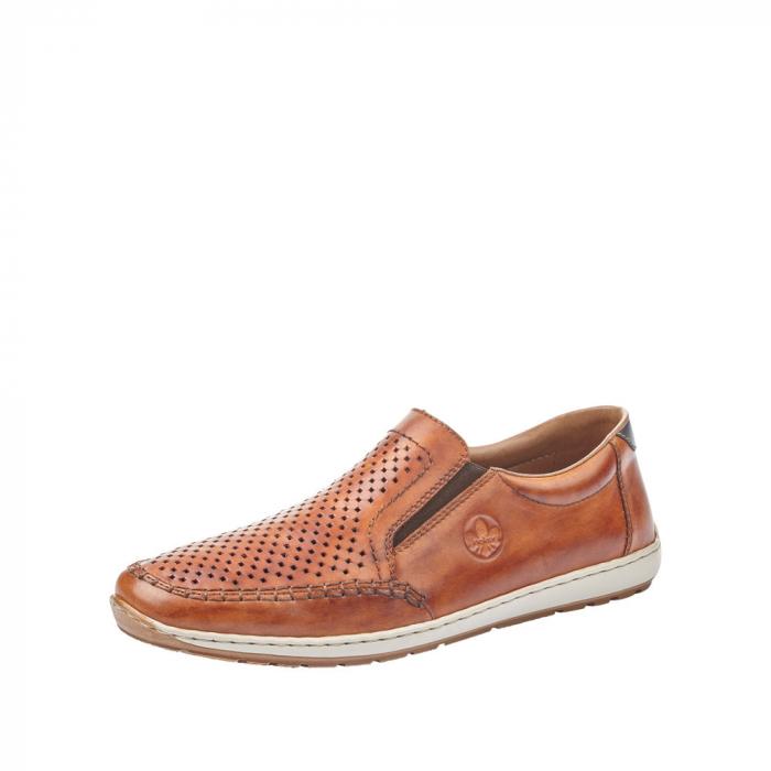 Pantofi barbat tip mocasin, piele naturala 08868-24 [0]