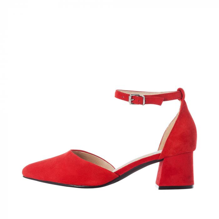 Pantofi eleganti dama, piele naturala de antilopa, 49150-33 4