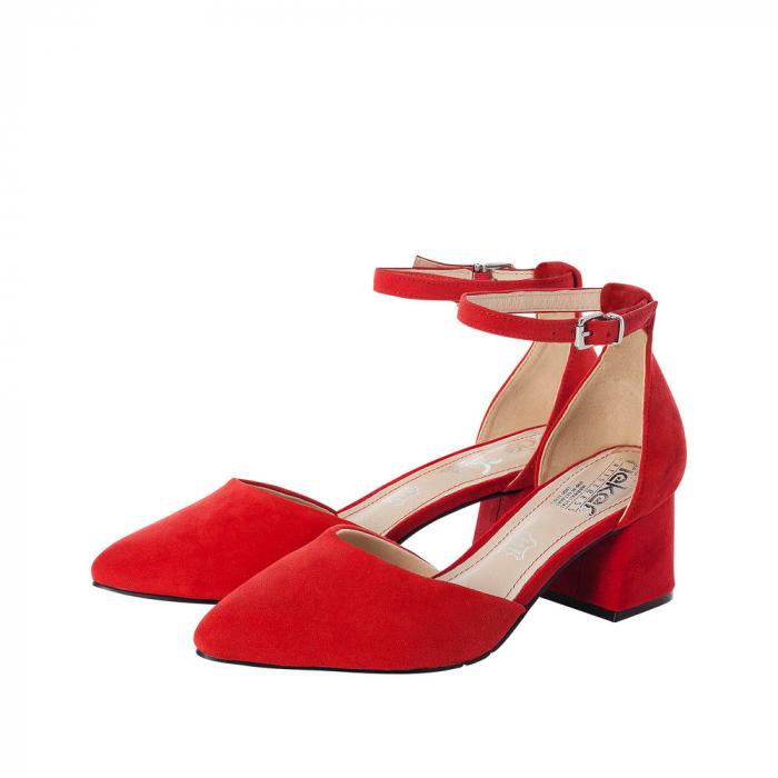 Pantofi eleganti dama, piele naturala de antilopa, 49150-33 6