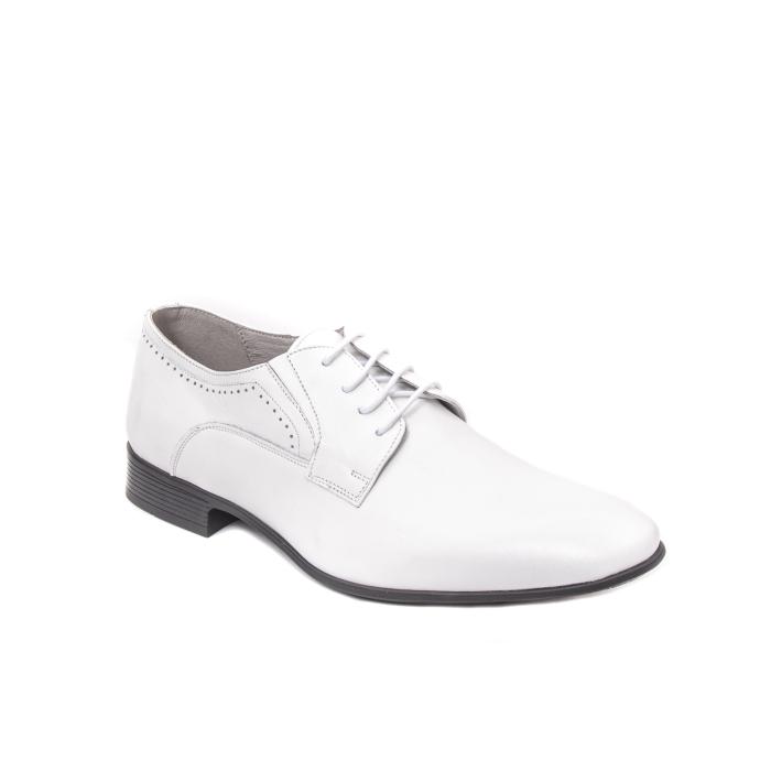 Pantofi barbati eleganti piele naturala Catali 192545 alb 0