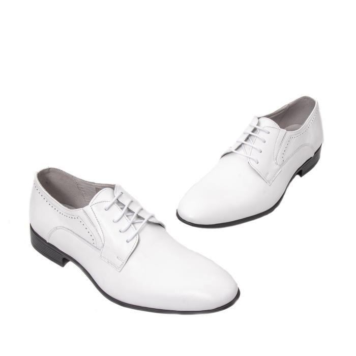 Pantofi barbati eleganti piele naturala Catali 192545 alb 1