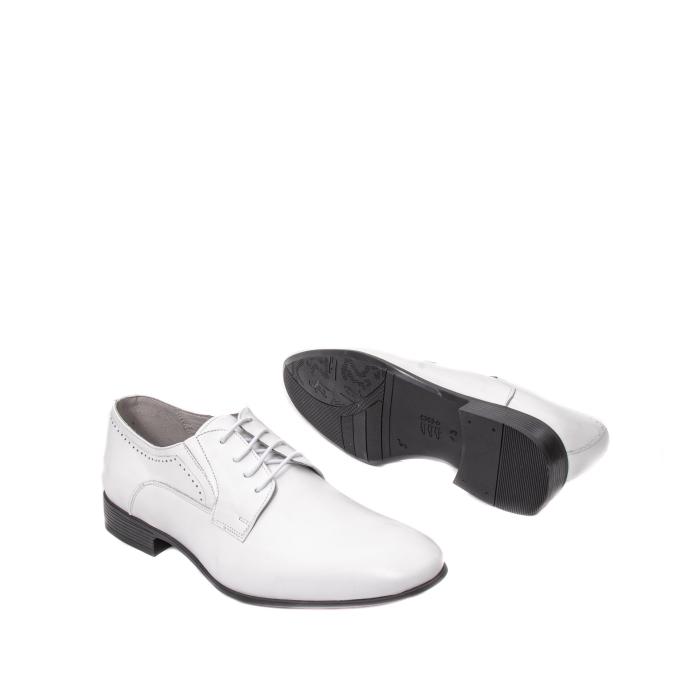 Pantofi barbati eleganti piele naturala Catali 192545 alb 3