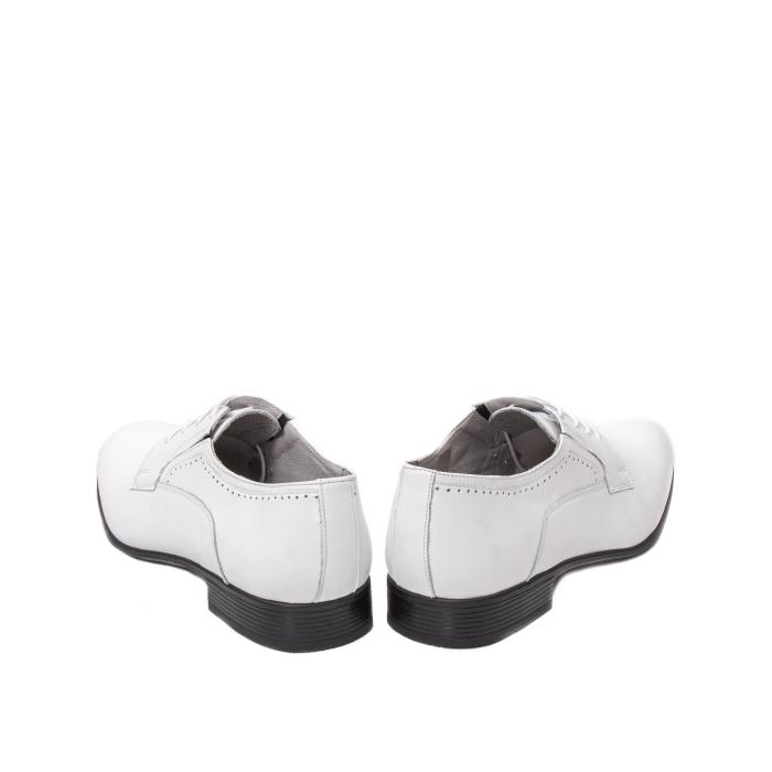 Pantofi barbati eleganti piele naturala Catali 192545 alb 6