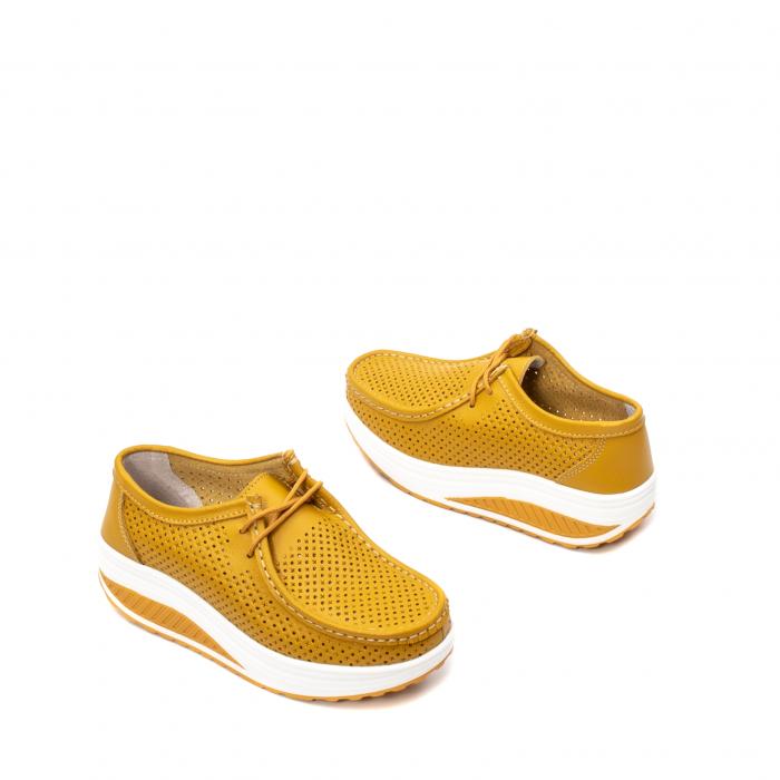 Pantofi dama casual de vara, piele naturala, 2074 M 2