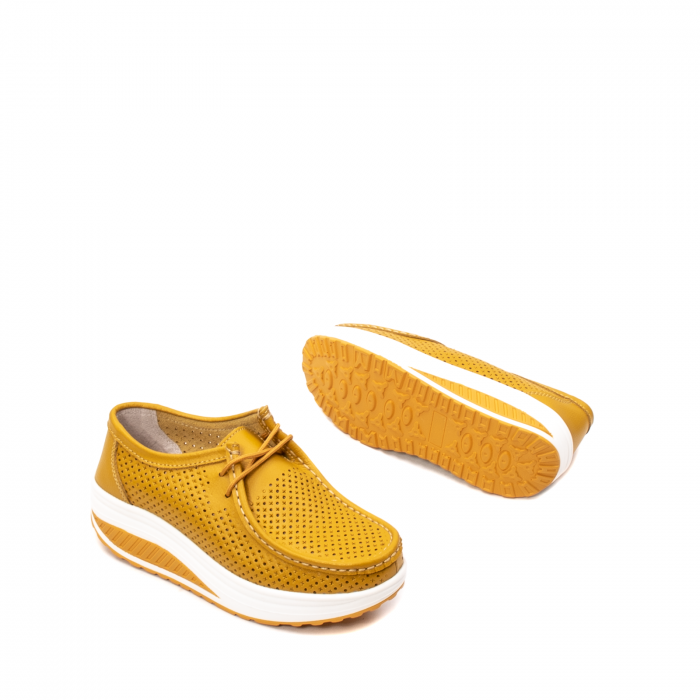 Pantofi dama casual de vara, piele naturala, 2074 M 3