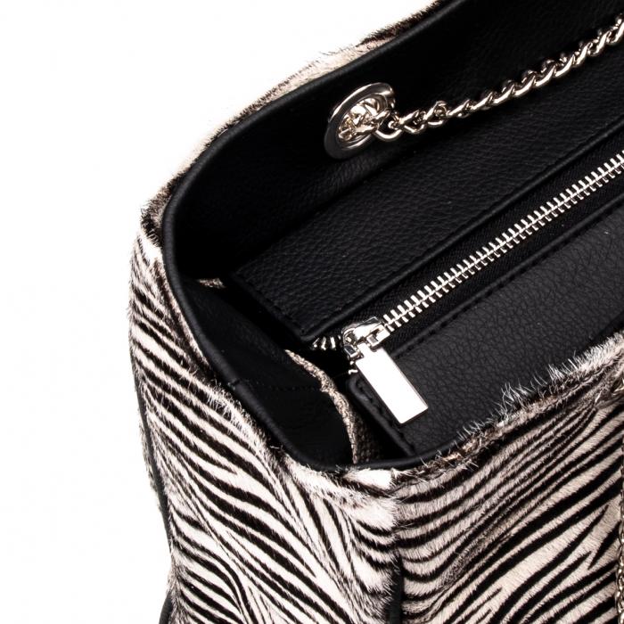 Poseta blana naturala ,Zebra By YSL 1