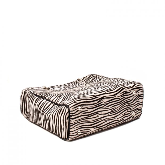 Poseta blana naturala ,Zebra By YSL 3
