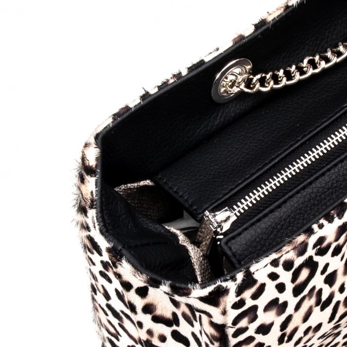 Poseta blana naturala ,Leopard By YSL 1
