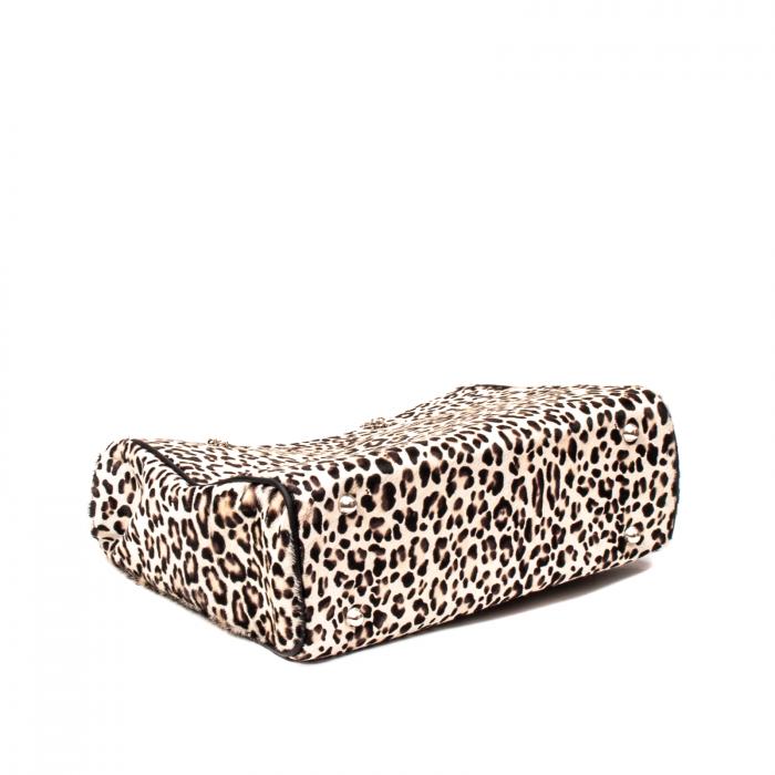 Poseta blana naturala ,Leopard By YSL 3