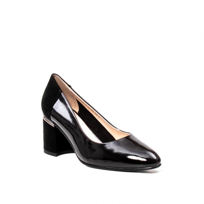 Pantofi eleganti dama, piele naturala lacuita,Y36 0
