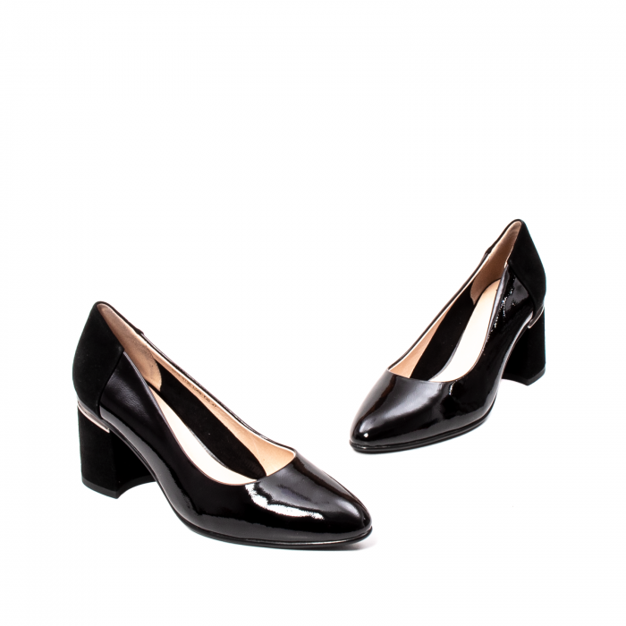 Pantofi eleganti dama, piele naturala lacuita,Y36 1