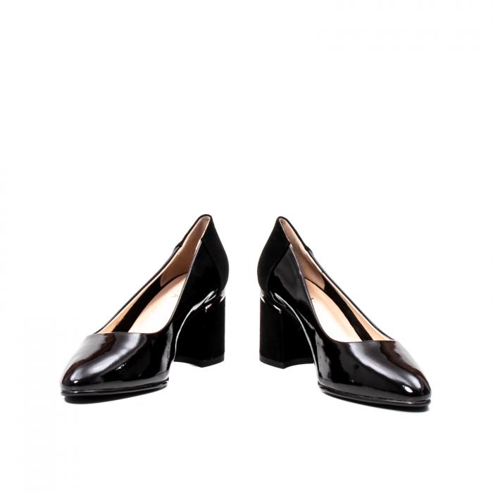 Pantofi eleganti dama, piele naturala lacuita,Y36 4