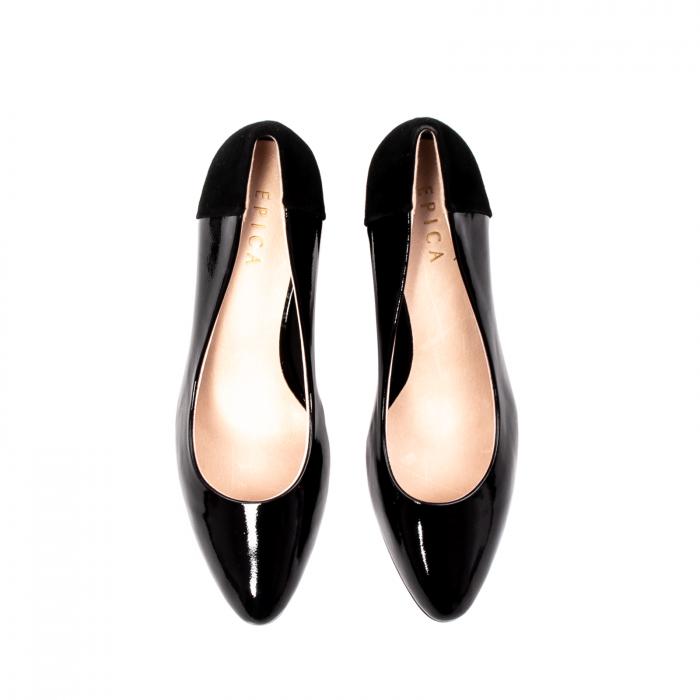 Pantofi eleganti dama, piele naturala lacuita,Y36 5