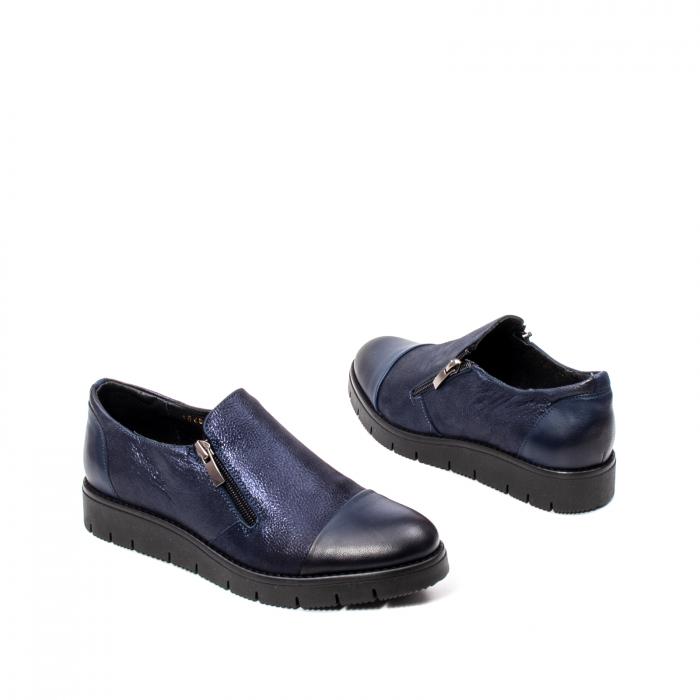 Pantofi casual dama, piele naturala, 182634AMA BL 2