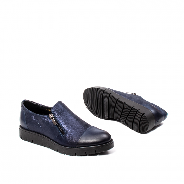 Pantofi casual dama, piele naturala, 182634AMA BL 3
