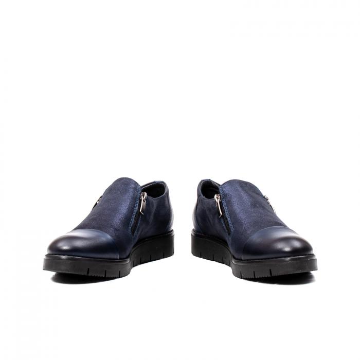 Pantofi casual dama, piele naturala, 182634AMA BL 4