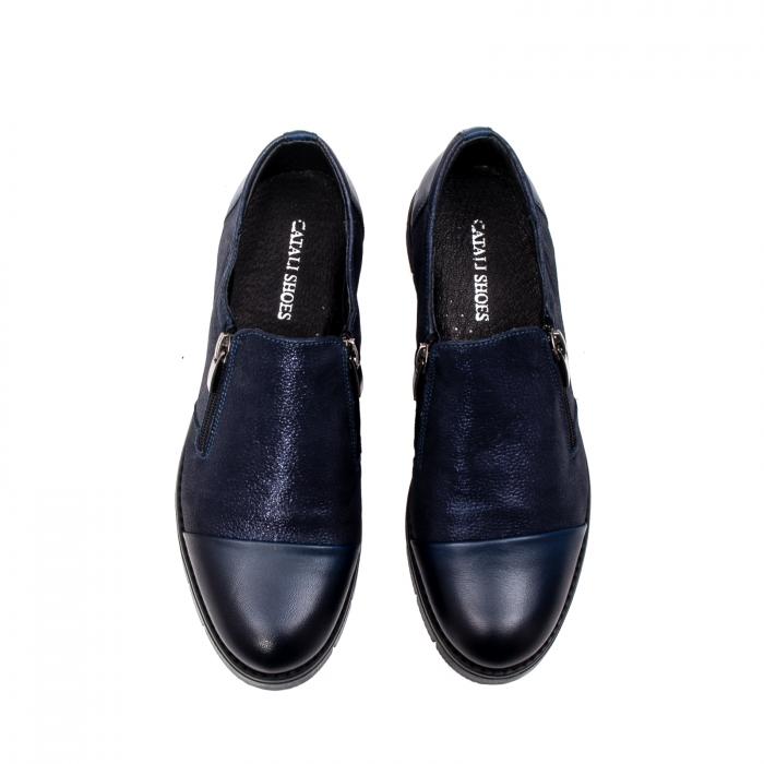 Pantofi casual dama, piele naturala, 182634AMA BL 5