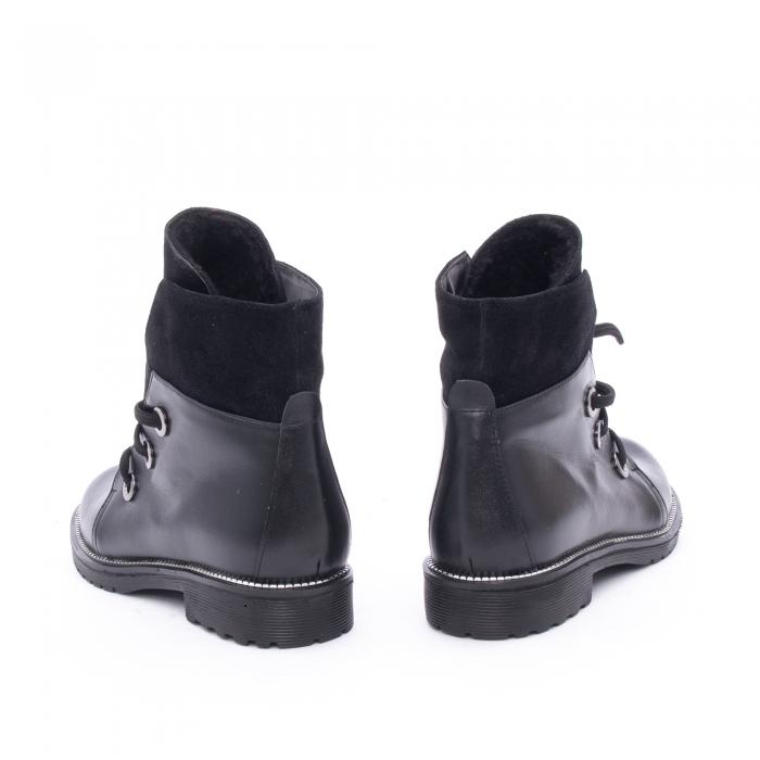 Botine dama casual piele naturala, Nike Invest g1149, negru 4