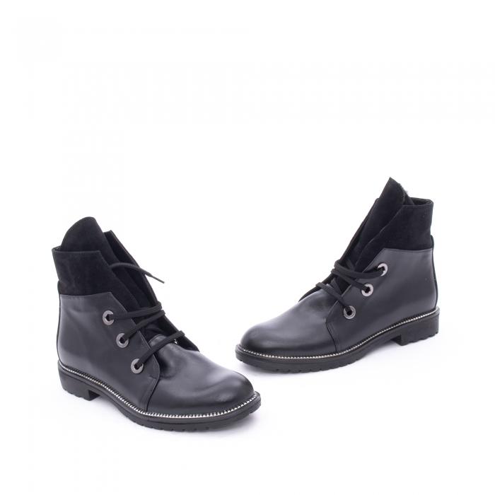 Botine dama casual piele naturala, Nike Invest g1149, negru 1
