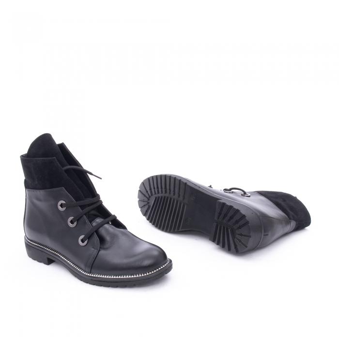 Botine dama casual piele naturala, Nike Invest g1149, negru 2