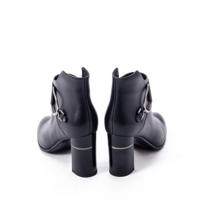 Botine elegante dama, piele naturala, Epica, negru 1255S 6