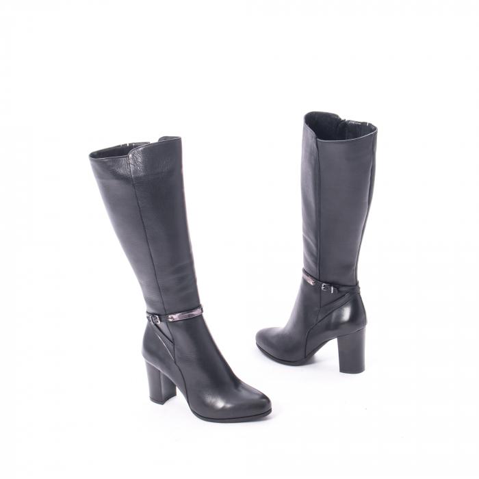 Cizme elegante dama din piele naturala Catali 172854 negru 2