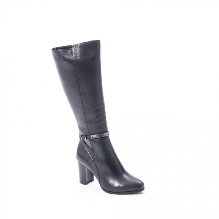 Cizme elegante dama din piele naturala Catali 172854 negru 0