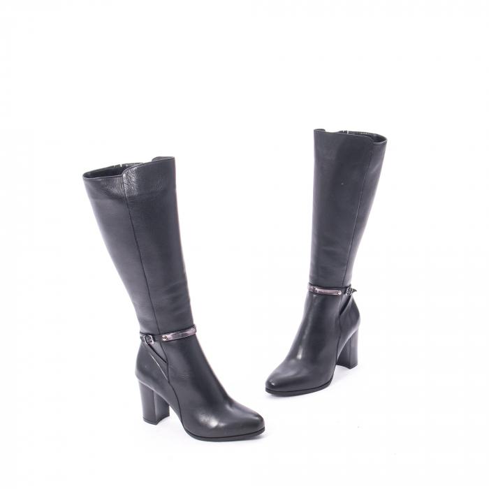 Cizme elegante dama din piele naturala Catali 172854 negru 1