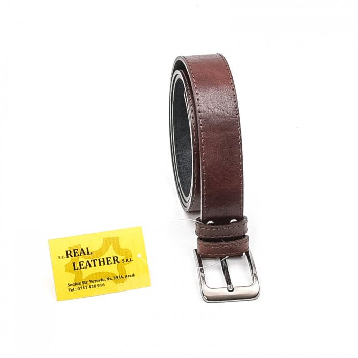Curea barbat piele naturala, maro - Real Leather 0