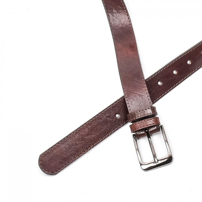 Curea barbat piele naturala, maro - Real Leather 2