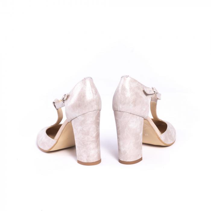 Pantofi dama eleganti decupati piele Nike invest s1041, alb auriu 6