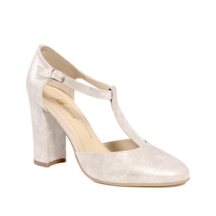 Pantofi dama eleganti decupati piele Nike invest s1041, alb auriu 0