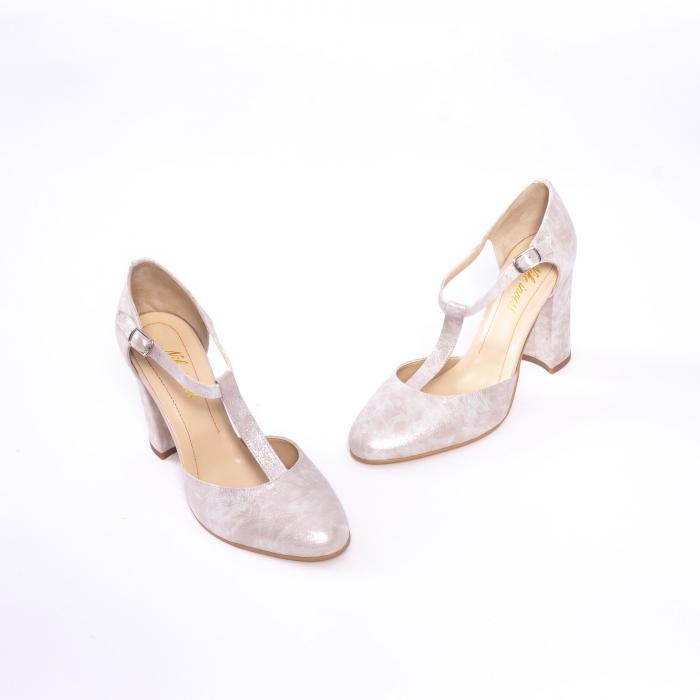 Pantofi dama eleganti decupati piele Nike invest s1041, alb auriu 1
