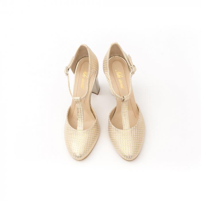 Decupat elegant dama 1041 auriu 5