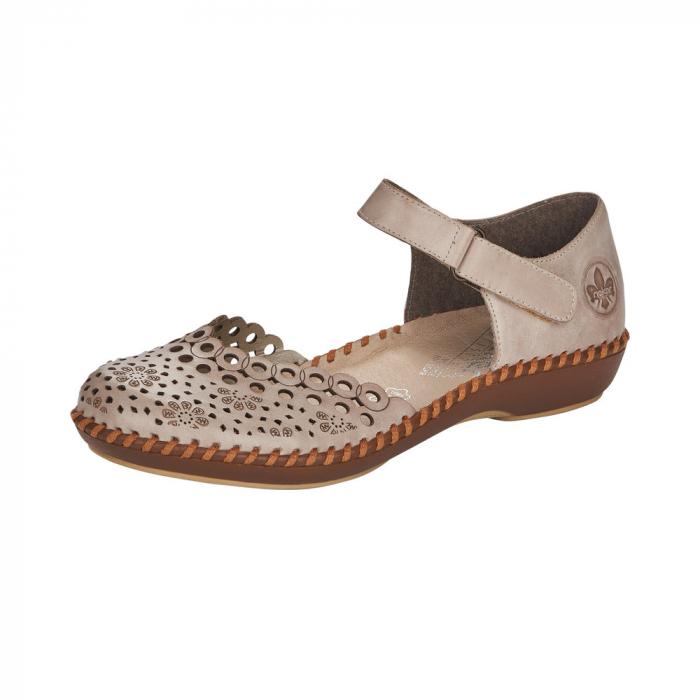 Pantofi de vara dama, piele naturala, M1656-62 0