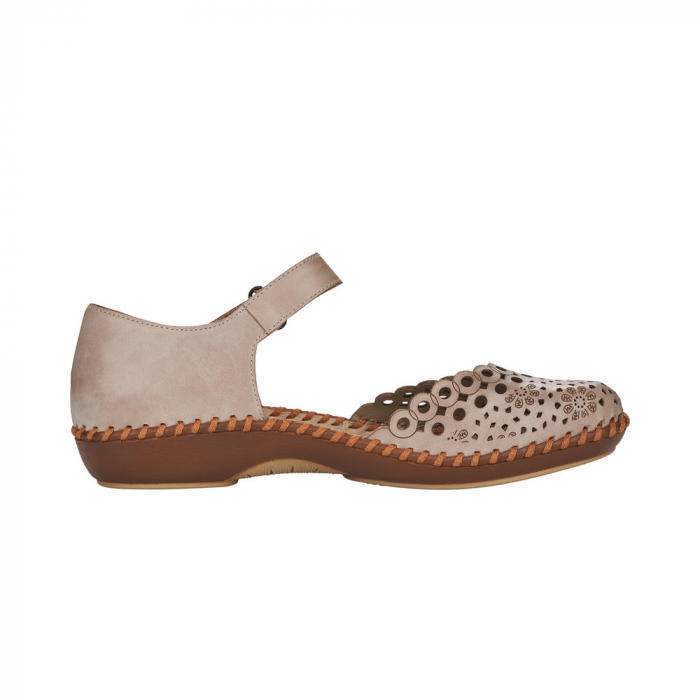 Pantofi de vara dama, piele naturala, M1656-62 1