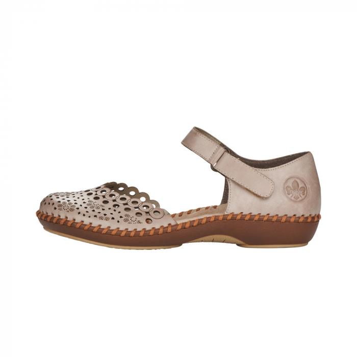 Pantofi de vara dama, piele naturala, M1656-62 4