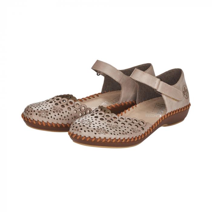 Pantofi de vara dama, piele naturala, M1656-62 6