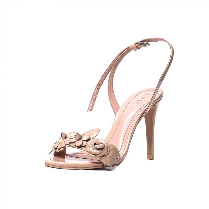 Sandale dama casual, piele naturala, WE6-87553 M2-Z, Nude [0]
