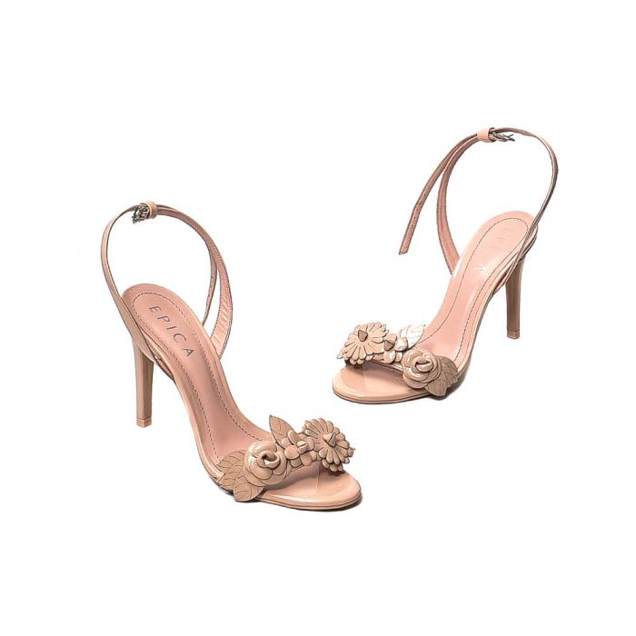 Sandale dama casual, piele naturala, WE6-87553 M2-Z, Nude [1]