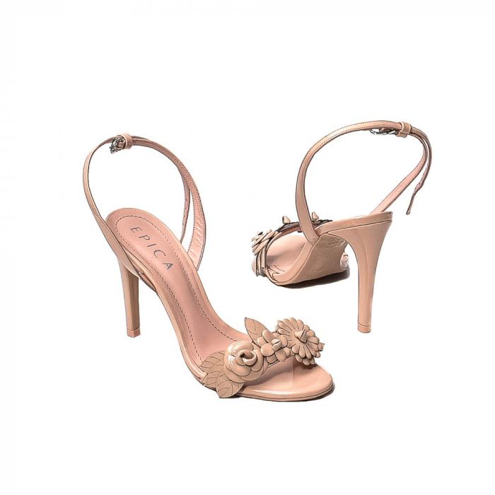 Sandale dama casual, piele naturala, WE6-87553 M2-Z, Nude [2]