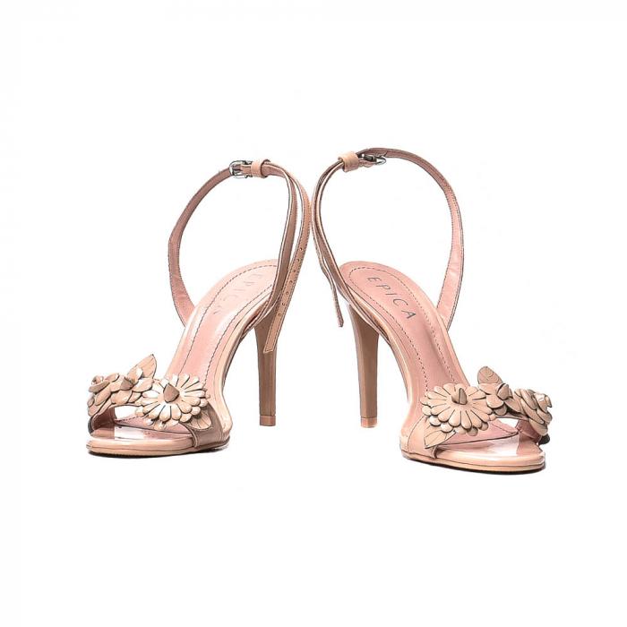 Sandale dama casual, piele naturala, WE6-87553 M2-Z, Nude [4]