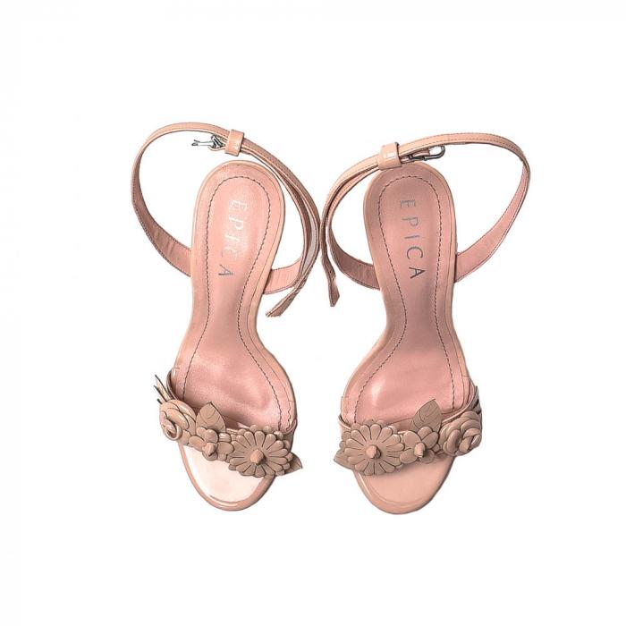 Sandale dama casual, piele naturala, WE6-87553 M2-Z, Nude [5]