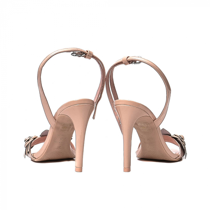 Sandale dama casual, piele naturala, WE6-87553 M2-Z, Nude [6]