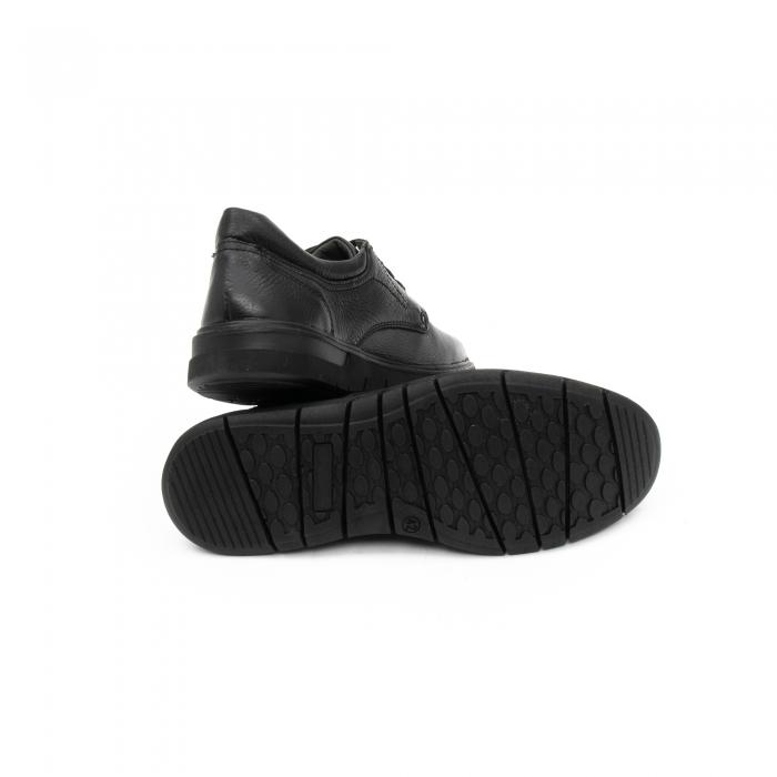 Pantofi barbati casual ,piele naturala Otter 2804, negru 4