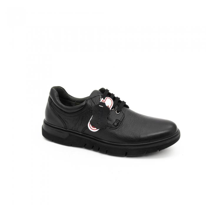 Pantofi barbati casual ,piele naturala Otter 2804, negru 0