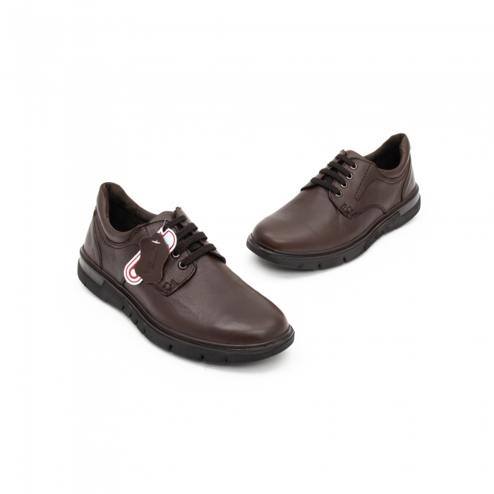 Pantofi barbati casual piele naturala Otter 2804, maro 2